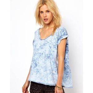 Free People Acid Wash Oversize T-Shirt XS
